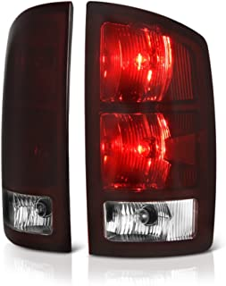 [For 2002-2006 Dodge RAM 1500 2500 3500 Pickup Truck] OE-Style Smoke Red Lens Tail Light Right Lamp Assembly w/Circuit Board, Driver & Passenger Side