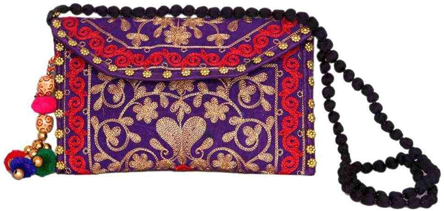 Wholesale 50 pc lot Bulk Indian Vintage Hand Bag Traditional Bridal Clutch Beaded Shoulder Bag potli Pouch Hand Bag Purses Women Purse by Craft place-78