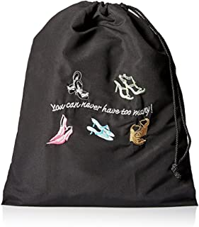 Miamica Travel Accessories, You Can Never Have Too Many Shoe Bag, Black