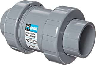 Hayward TC20200ST Series TC True Union Ball Check Valve, Socket/Threaded End, CPVC with FPM Seals, 2