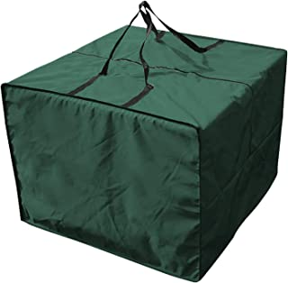 Outdoor Patio Furniture Seat Cushions Storage Bag with Zipper and Handles, 32''L X 32''W X 24''H Waterproof Rectangular Cu...
