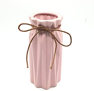 Anding Pink Ceramic Vase - Elegant Origami Art Design- Ideal Gift for Friends and Family, Wedding, Desktop Center Vase, A Perfect Home Decor Vase (LY097)