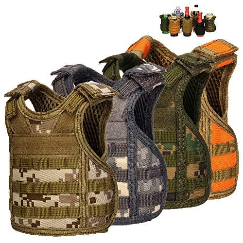 DSMY Bottle Vest Tactical Beverage Cooler Military Beer Mini...