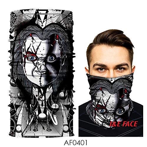 CNstory Kettensäge Horror Jason Ghost Baby Magie Halloween Horror Nahtlose Maske Kopfbedeckung Kopftuch Maske Schädel Schal