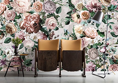 Komar - Vlies Fototapete VICTORIA - 368 x 248 cm - Tapete, Wand, Dekoration, Wandbelag, Wandbild, Wanddeko, Blume, Blumenbouquets - XXL4-051