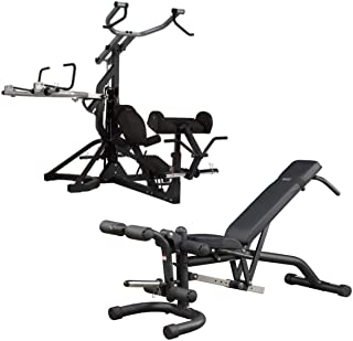 Body-Solid Free-Weight Leverage Gym (SBL460) with FID Bench