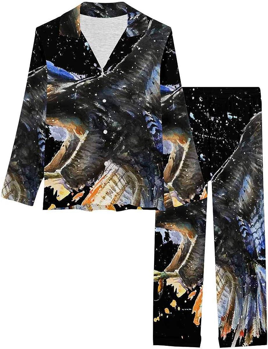 Discount is also underway InterestPrint Button Down Nightwear Soft Set Pj Long Sleeve Financial sales sale New