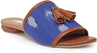 Chalk Studio - Blue Ikat- Sandals