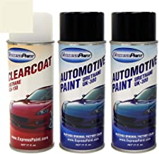 ExpressPaint Aerosol - Automotive Touch-up Paint for Toyota RAV4 - Blizzard Pearl Tricoat 070 - Color + Clearcoat Package