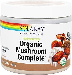Solaray Organic Fermented Mushroom Complete Organic, Powder (Btl-Plastic) 2000mg | 60g