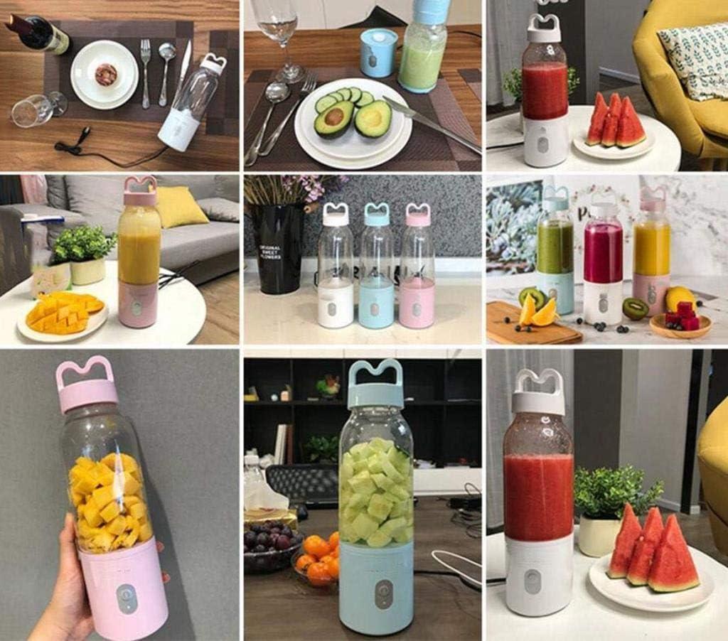 Mezclador Multifuncional portátil de la Taza del Jugo de la Fruta y verdura del Juicer, Extractor del Jugo de la Seguridad y de la Salud (Color : Azul) Azul