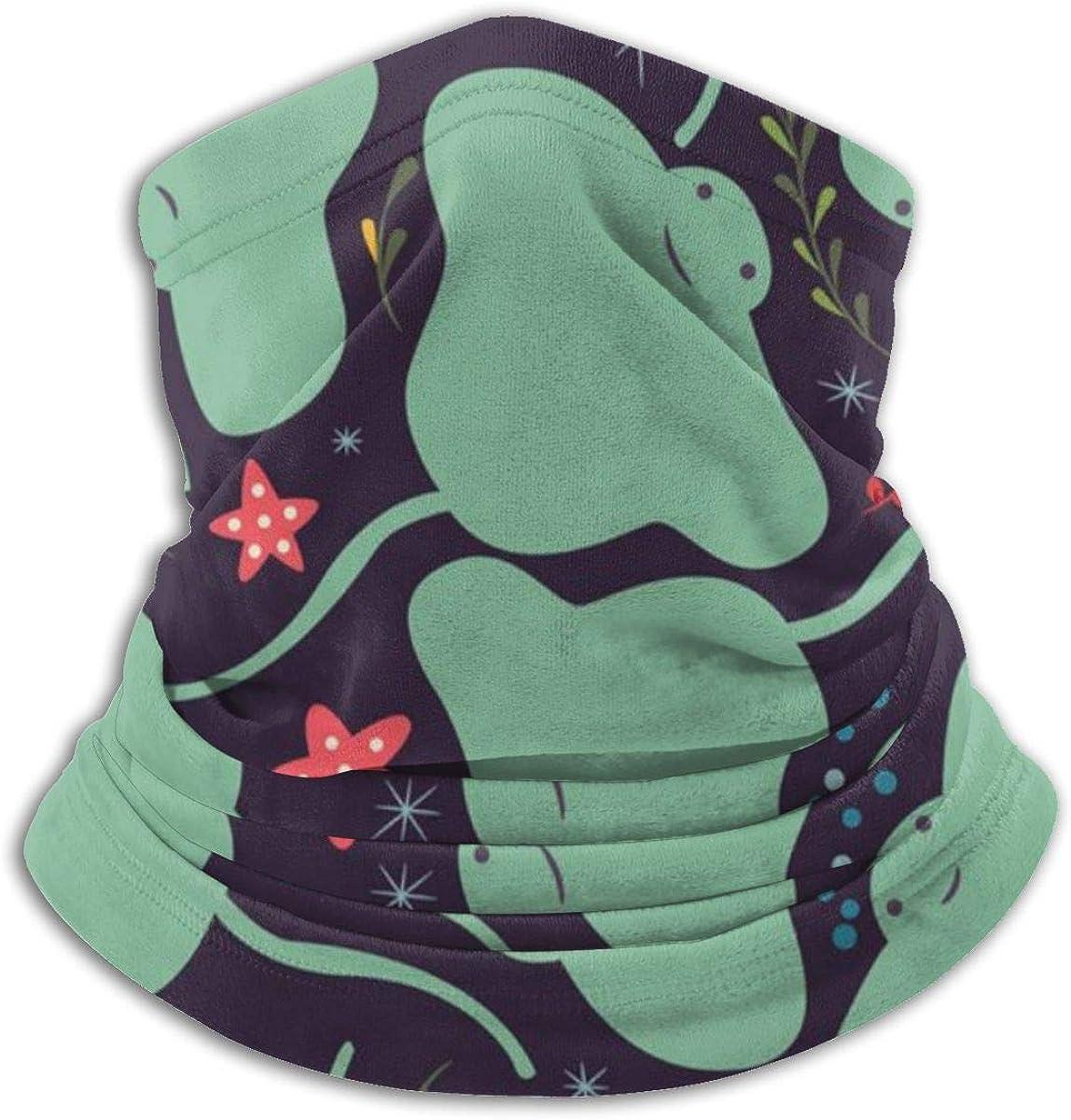 Adults Kids Neck Gaiter Tube Ear Warmer Headband Thermal Face Mask