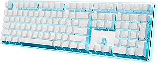 RK ROYAL KLUDGE RK918 Wired Mechanical Gaming Keyboard RGB Backlit Side Lamp 108 Keys 100% Anti-Ghosting Red Switch White