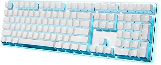 RK ROYAL KLUDGE RK918 Wired Mechanical Gaming Keyboard RGB Backlit Side Lamp 108 Keys 100% Anti-Ghosting Brown Switch White