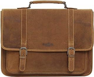 Gusti Businesstasche Leder - Greg Umhängetasche Aktentasche Messenger Bag Lehrertasche Bürotasche Unitasche Leder