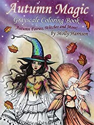 autumn magic grayscale coloring book