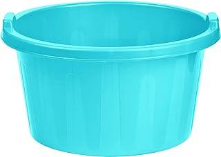 طبق غسيل بلاستيك دائري من الهلال والنجمة، 58 سم - تركواز