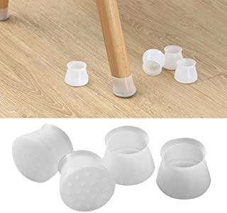 Furniture Silicon Protection Cover, UMIWE 4PCS Chair Leg Caps Round Furniture Table Feet Pad Floor Protector Anti-Slip Bot...