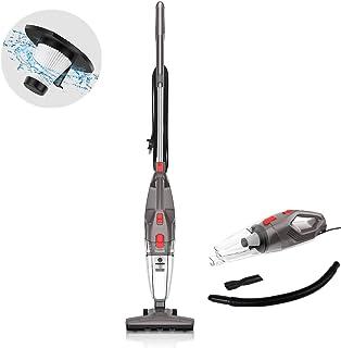 MOOSOO Vacuum Cleaner, 15KPa 4-in-1 Upright Vacuum Stick Vacuum Cleaner with HEPA Filters for Hard Floor Lightweight Home ...