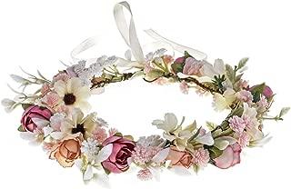 Floral Fall Camellia Flower Crown Rose Headpiece Wedding Bridal Flower Girl Halo Maternity Photo Props FL-03