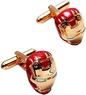 Ss Ironman Gold Metal Cuffinks for Men SS08