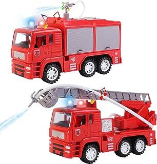 deAO Camión de Bomberos y Camión con Escalera de Rescate C