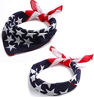 migi Sports Headband Neutral Design American Flag Bandana USA Flag Bandana USA Team Apparel US Bandana