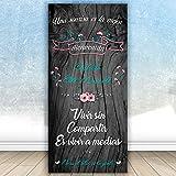 Decoración Boda   Cartel Boda Bienvenida Sonrisa   70cm x 1