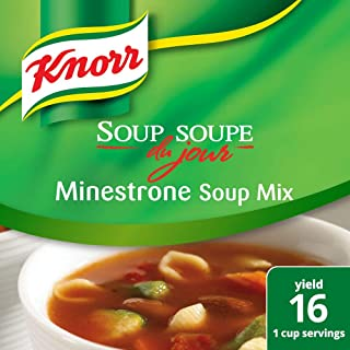 Knorr Professional Soup du Jour Minestrone Soup Mix Vegetarian, 0g Trans Fat per Serving, Just Add Water, 14.9 oz, Pack of 4