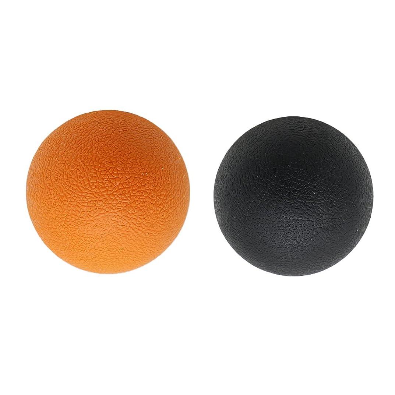 オーバーコートエコー現れる2個 マッサージボール ストレッチボール トリガーポイント トレーニング マッサージ リラックス 家庭 ジム 旅行 学校 オフィス 便利 多色選べる - オレンジブラック