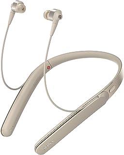 Sony 索尼 WI-1000X Hi-Res颈挂式 入耳式 无线蓝牙耳机 降噪耳机 手机通话 香槟金