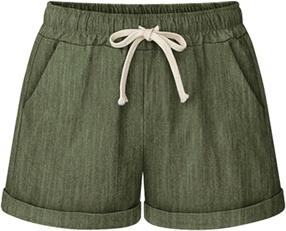 Elastic Waist Shorts for Women C Summer Mail order cheap Cheap super special price Drawstring