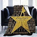 Bingerboy Musicals Hamilton Micro Fleece Bed Blankets Super Soft Anti-Pilling Flannel Cozy Luxury Couch Blanket 60'X50'