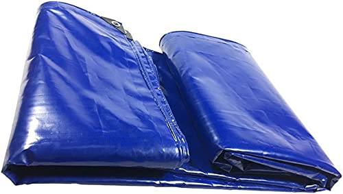 YUJIE Bache Bleue Bache Imperméable Et étanche à l'huile Bache Ultra Légère Tricycle Auvent Bache, épaisseur 0,48 Mm, 550 G   M2, 8 Options De Taille