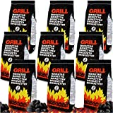 Deuba 27kg Briquetas de carbón Vegetal para Barbacoa braseros parrilladas chispas Bajas brasas Exterior 9 x 3kg Grill