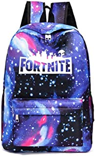 Fortnite School Backpack,Student Stylish Unisex Canvas Laptop Book Bag Rucksack Daypack for Teen Boys and Girls