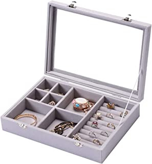 Detachable Jewelry Box With Lid,Multi-Function Jewelry Storage Box Removable Jewelry Box With Lid,Wooden Jewelry Display Box,Multi-Function Jewelry Storage Box,Seven Grid Models