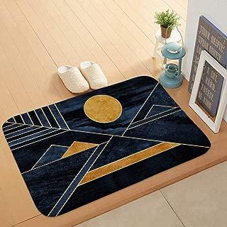 LONIY Area Rugs Gold Rhombus Marble Pattern Dots Circle Mat Bath 4060 Coral Fleece Home Decorative Floor Carpet