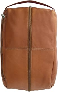 Piel Leather Deluxe Shoe Bag, Saddle, One Size