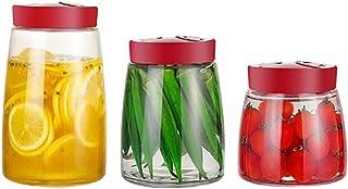YYLL 3 pièces en Verre Alimentaire Conteneur de Stockage, marinées Kimchi Jars Pickles Pot de Rangement en Verre Bocal sce...