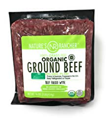 Nature's Rancher, Beef Ground 93% Lean Grass Fed Organic Step 4, 16 Ounce