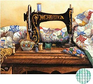 LIPHISFUN Diamond Painting Kits for Adults Full Drill Square Resin Rhinestone Embroidery Unfinished Cross Stitch Home Decor Gift Sewing Machine 30x40cm