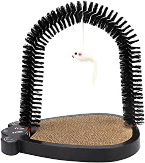 Blesiya 3pcs/Set Pet Cat Grooming Arch Massager Brush & Scratching Pad Toy W/ Catnip