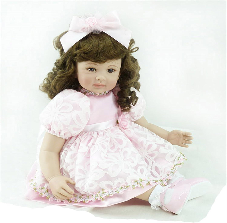 Fachel reborn baby doll baby - puppen realistisch vinyl silikon babys 55cm 22inch schönes kleid puppe kindergeburtstag geschenk weihnachtsgeschenk B01FJ9YYG2 Bestellungen sind willkommen  | Attraktives Aussehen