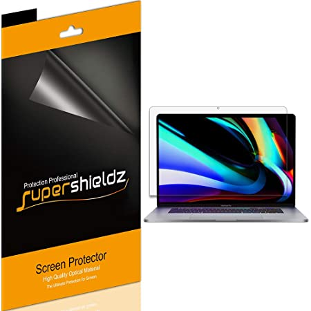 (3 Pack) Supershieldz Designed for Apple MacBook Pro (16 inch) 2019 Release A2141 Screen Protector, Anti Glare and Anti Fingerprint (Matte) Shield
