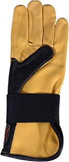 HILASON Bull Riding Gloves Genuine Leather Left Hand