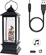 Wondise Lighted Musical Snow Globe Lantern with Timer, 12 Inch USB Plug-in & Battery Operated Water Glittering Christmas Snow Globe Decorative Lamp Gifts(Choir)
