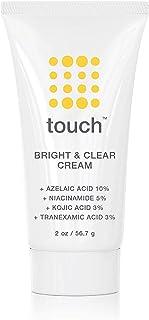 Skin Lightening & Brightening Cream for Dark Spots on Face - 10% Azelaic Acid Hyperpigmentation Treatment with Kojic Acid,...