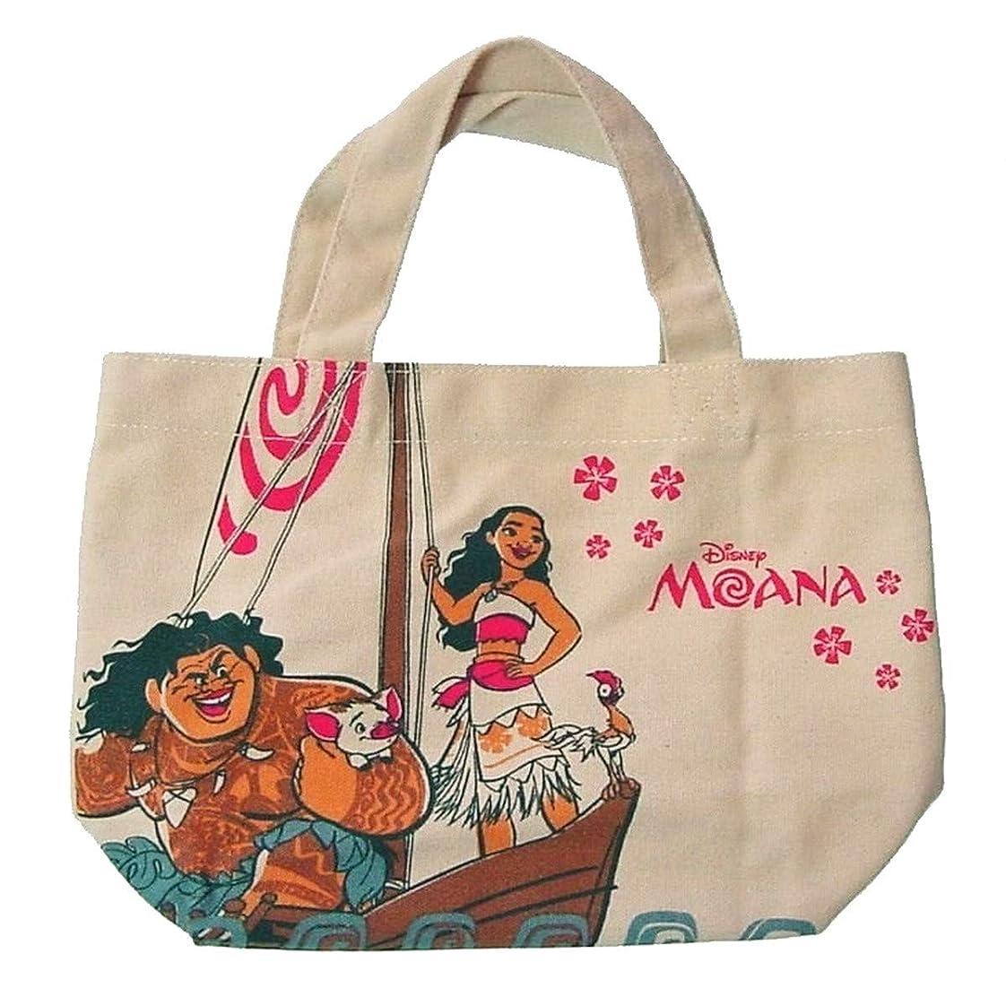 高音ボンドカルシウムDisney ディズニー - 帆布のミニトート バッグ #モアナと伝説の海〈マルチカラー〉