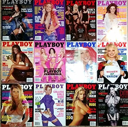 Playboy Magazine 2002 Lot Entire Year 12 Issues January Through December